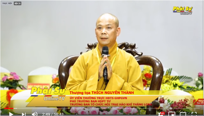 """Trực tiếp: TT Thích Nguyên Thành chia sẻ pháp thoại cho hơn 2000 trại sinh tại hội trại tuổi trẻ và Phật giáo, với chủ đề"""" HÀO KHÍ THĂNG LONG"""""""