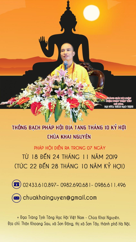 TB Dia Tạng Thang 10