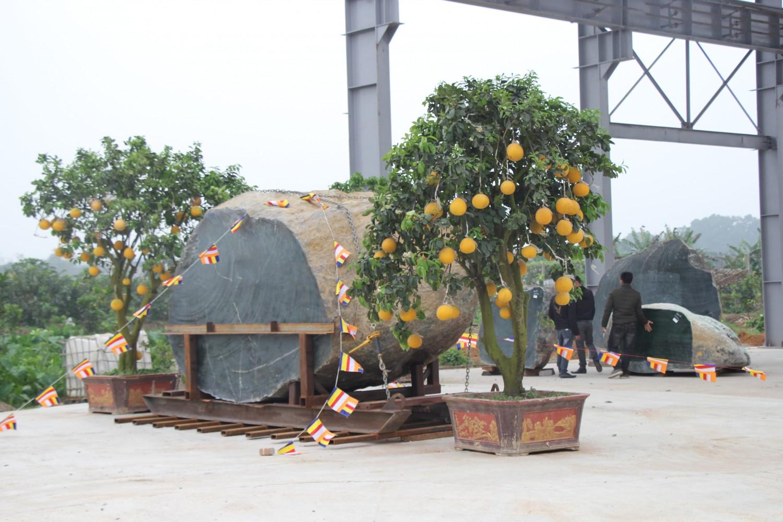 Quá trình thỉnh ngọc tạc tượng yểm tâm tại đại tượng A Di Đà chùa Khai Nguyên.